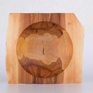 Flügelschale aus Apfelbaumholz - handgefertigte - Lajos Varga