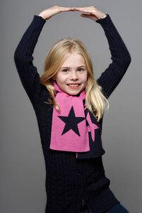 Schal STAR Marine Pink klein - Wool Candy