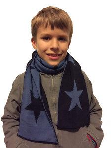 Schal STAR Hellblau Marine klein - Wool Candy