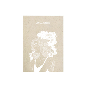 "Notizbuch Graspapier ""Dreaming"" - Swiss Brochure - Siebdruck - Matabooks"
