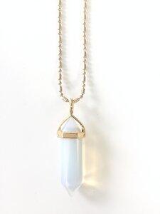 Opalite Pendel Halskette - Crystal and Sage