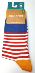 gestreifte Biobaumwolle Socken - VNS Organic Socks