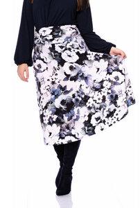 LIVIA Midirock mit Taschen aus Modal-Jersey (Anemone aquarell) - Ingoria