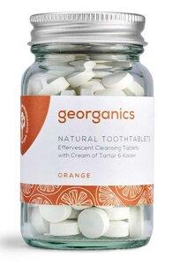 Georganics natürliche mineralhaltige Zahnputztabletten Orange  - Georganics
