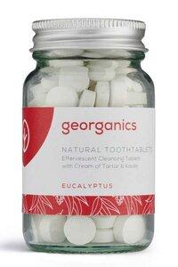 Georganics natürliche mineralhaltige Zahnputztabletten Eukalyptus  - Georganics