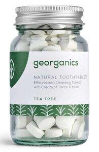 Georganics natürliche mineralhaltige Zahnputztabletten Tea Tree   - Georganics