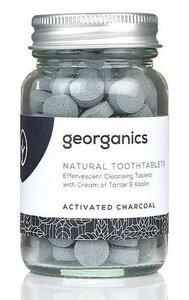 Georganics natürliche mineralhaltige Zahnputztabletten Activated Charcoal  - Georganics