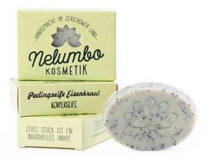 Nelumbo Olivenseife Peelingseife Eisenkraut  - Nelumbo Kosmetik