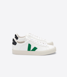 Sneaker Damen - Campo Easy Chromefree Leather - Extra White Emeraude Black - Veja