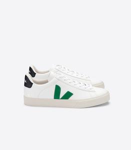 Sneaker Damen - Campo Easy Chromefree Leather - Extra White Emeraude Black - Veja