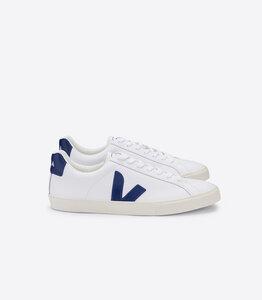 Sneaker Damen  - Esplar Low Logo Leather - Extra White Cobalt - Veja