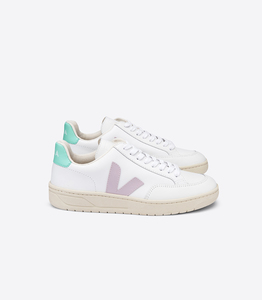 Sneaker Damen - V-12 - Extra White Parme Turquoise - Veja