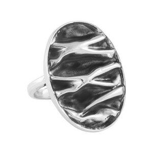 Ring Silber Wellen oval gewellt fein handmade sustainable Fair-Trade - pakilia