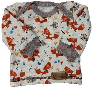Babyshirt aus Biojersey Fuchs und Igel - Omilich