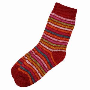 Damen Ringel Socke - hirsch natur