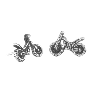 Ohrringe Silber Motorrad minimalistisch Ohrstecker handmade Fair-Trade - pakilia