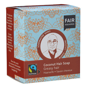 Fair Squared Coconut Hair Soap Greasy - 2x80gr. - FAIRSQUARED