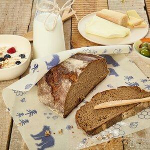 Brottuch / Bienenwachstuch für große Brote - 100% plastikfrei - Bambuswald