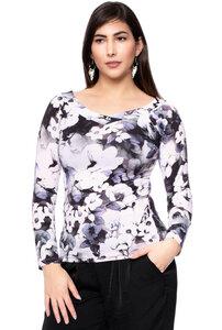 LORA Langarm Shirt aus seidigem Modal-Jersey (Anemone aquarell) - Ingoria