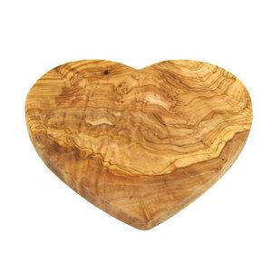 Holzbrett Herz,  Servierbrett aus Olivenholz - Mitienda Shop