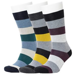 3er Set Multi Colour Stripe Pattern Socken - Opi & Max