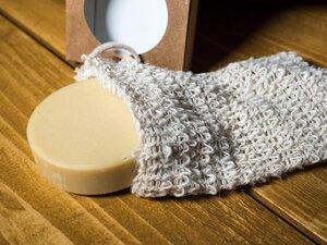 Alpakaseife im Sisal Seifensäckchen DuschSet – 100% plastikfrei - Soulcover