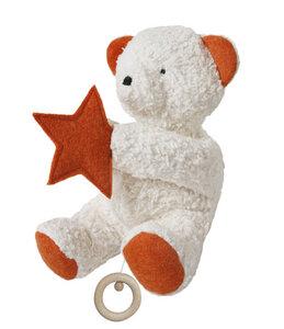Spieluhr Teddy mit Stern, kontrolliert biologischer Anbau, 100 % Made in Germany - Efie