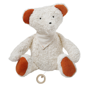 Spieluhr Teddy mit Halstuch, kbA, 100 % Made in Germany - Efie