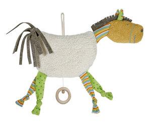 Spieluhr Pferd bunt, kontrolliert biologischer Anbau, 100 % Made in Germany - Efie