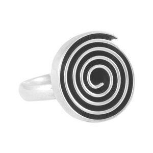 Ring Silber Labyrinth Spirale fein handmade sustainable Fair-Trade - pakilia