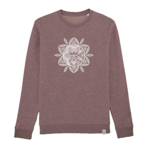 Yin-Yang Sonne - Siebdruck Sweatshirt W - Sacred Designs