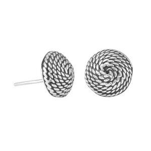 Silber Ohrringe Kordel Fair-Trade und handmade - pakilia