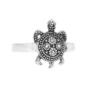 Ring Silber Sternschildkröte Pyrit Steinchen handmade Fair-Trade - pakilia