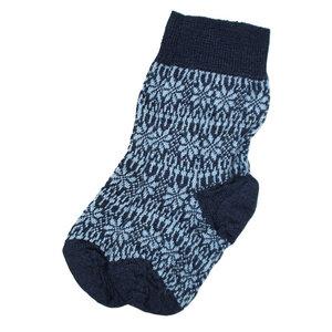 HIRSCH NATUR Kinder Norweger Socken reine Bio-Schurwolle - hirsch natur