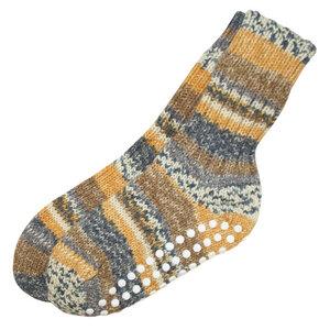 HIRSCH NATUR Damen und Herren Stopper Socken reine Bio-Schurwolle - hirsch natur
