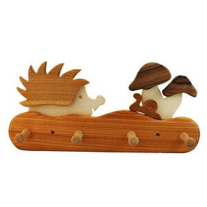 Kindergarderobe aus Holz | Igel - Mitienda Shop