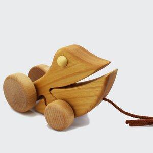 Ziehtier Frosch Emil aus Massivholz - Mitienda Shop