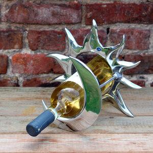"""Weinflaschenhalter aus Zinn """"Mond & Sonne"""" - Mitienda Shop"""