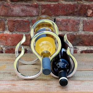 """Weinflaschenhalter aus Zinn """"New York"""" - Mitienda Shop"""