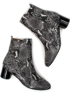 Ankle Boots Snake Print Frauen - Will's Vegan Shop