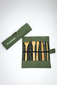 Bamboo Travel Besteckset - ecolinda