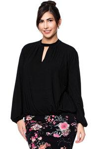MAIRA Blusenshirt aus seidigem Modal-Jersey in schwarz - Ingoria