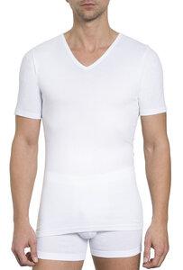 Herren Basic Shirt V-Ausschnitt Feinripp 2er Pack - Haasis Bodywear
