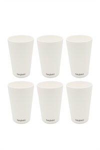 Mehrweg Trink-Becher aus nachwachsenden Rohstoffen 6 Stück - heybico