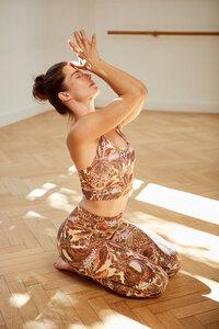 Yoga Top - Printed Organdy Bra - Mandala
