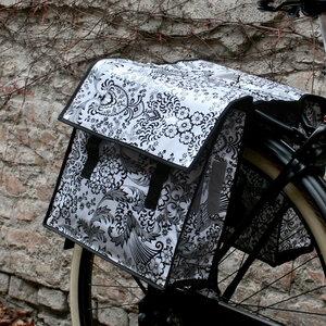 Set Fahrradtasche & Sattelschoner Eden weiß - Mitienda Shop