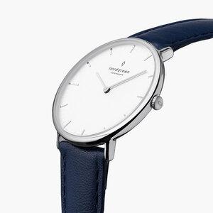 Armbanduhr Native Silber - Italienisches Lederarmband - Nordgreen Copenhagen