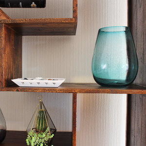 Dekovase aqua | Blumenvase | Glasvase | große Vase | Fensterdeko - Mitienda Shop