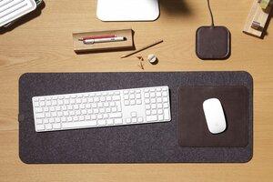 Schreibtischunterlage Moira aus Leder und Wollfilz (Mulesing-frei) - Pack & Smooch