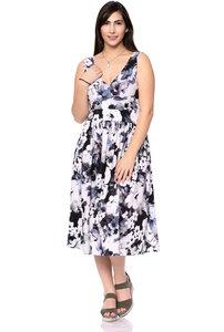 VALERIE Midi Kleid aus seidigem Modaljersey (Anemone aquarell) - Ingoria